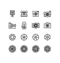photo camera camcorder photographer icons vector image