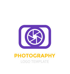Photography logo template vector