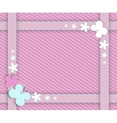 Pink frame for girls vector