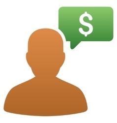 Price Bidder Gradient Icon vector
