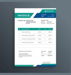 Professional geometric invoice template design vector