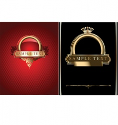 red black and gold ornate banner illustrati vector image vector image