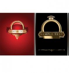 red black and gold ornate banner illustrati vector image