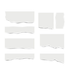 ripped paper broken white note paper for text vector image