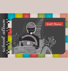 school album driver vector image