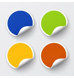 set blank stickers vector image