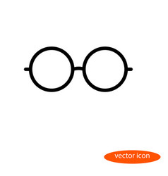 simple linear image of glasses line icon vector image