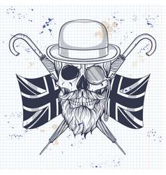 Sketch of british skull vector