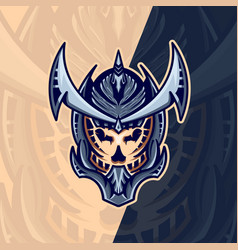 skull mask esport logo design with modern concept vector image