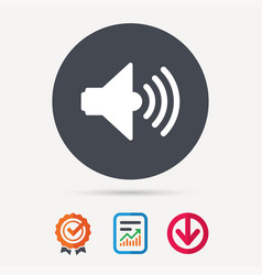 Sound icon music dynamic sign vector