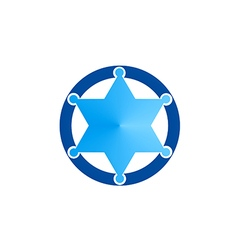 Star sheriff bedge blue logo vector