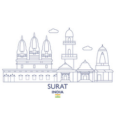 Surat city skyline vector