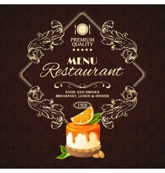 Sweets dessert restaurant menu vector