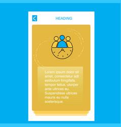team on time mobile vertical banner design design vector image