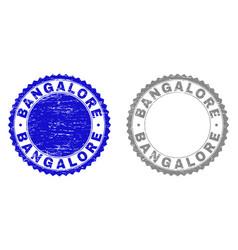 Textured bangalore grunge watermarks vector