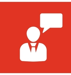 The message icon Talking and communication vector image