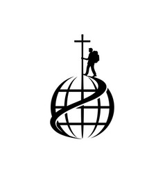The missionary of jesus is walking the world vector