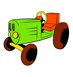 Tractor icon cartoon vector