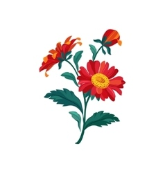Treasure Flower Hand Drawn Realistic vector image