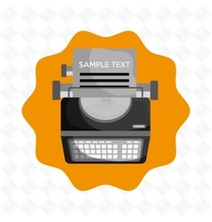 Type writer design vector