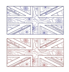 UK flag otlines vector image