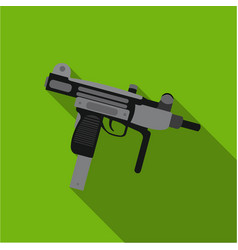 uzi weapon icon flate single weapon icon from the vector image