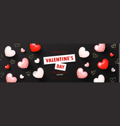 Valentine s day saleromantic composition with vector