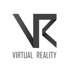 Virtual Reality logotype vector image