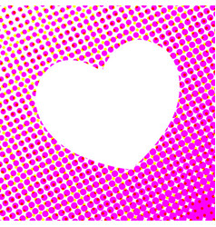 White heart on pink spot abstract vector