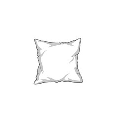 white square pillow black line vector image