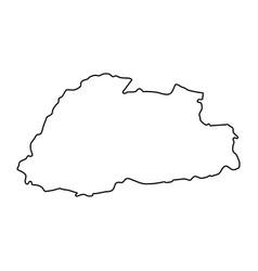 kingdom of bhutan map of black contour curves on vector image