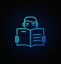 man reading a book icon vector image vector image