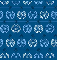 nautical background wind rose vector image