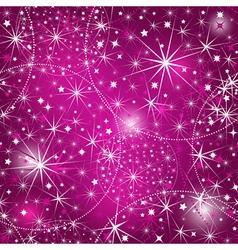 Seamless purple christmas pattern vector image vector image