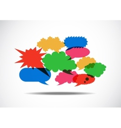 Talk Balloon Abstract vector image vector image