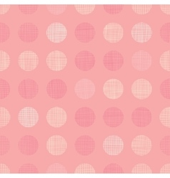 Vintage Pastel Salmon Pink Baby Girl Dots vector image vector image