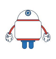 cartoon character cute robot hands with glove vector image