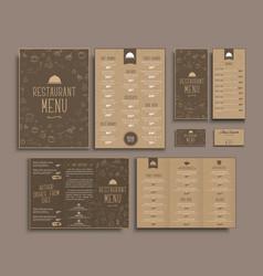 design a4 menu retro folding brochures flyers vector image vector image
