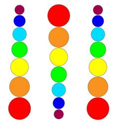 lines rainbow circles vector image