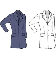 man coat vector image vector image