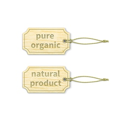 Organic tags set 12 vector image