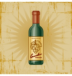 Retro Wine Bottle vector image vector image
