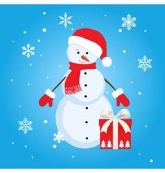 snowman gift vector image