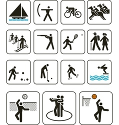 Sports olympic games signs vector image vector image