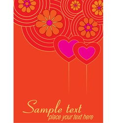 Valentine background with hearts vector image vector image