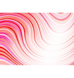 wavy abstract background in red color vector image vector image