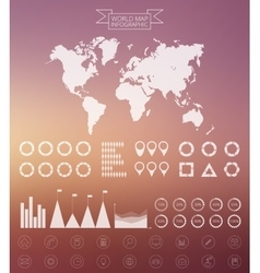 World map infographics design template vector