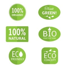 Ecology labels collection vector image vector image