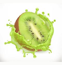 kiwi fruit juice fresh fruit 3d icon vector image