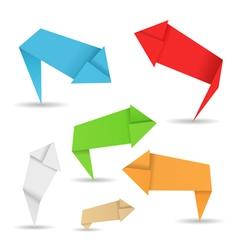 origami arrows vector image